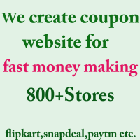 Coupons:Earn commision on 800 plus stores like flipkart, snapdeal, paytm.