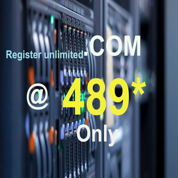 Buy .COM Domain at low price only at Rs.489/-
