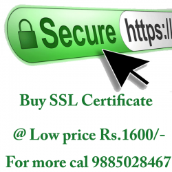 Get ssl certificate very low price Rs.2500/-